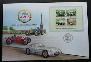 [SJ] Germany 70th Anniv Of Avus Motor Car Racing 1991 Sport Games Circuit (FDC)