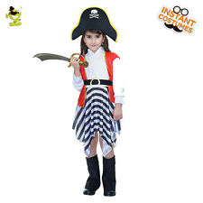 Kids Luxury Pirate Costumes Halloween Carnival Party  Princess Role Play Suits