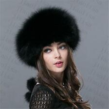 new Genuine Real fashion Winter Women fox fur New Hat Cap Headgear Beanie C3