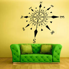 Wall Decal Vinyl Sticker Design Rose Wind West South Nord Compass (Z783)