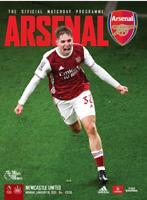Arsenal v Newcastle Premiership 18-1-21 - Electronic Programme RARE