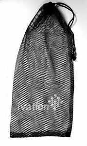 "Equinox Nylon Mesh Stuff Bag BLACK 21"""