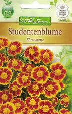5258 Studentenblume 'Ehrenkreuz' Tagetes patula dunkelgelb, braun gefl. Samen