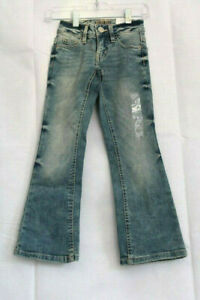 """Justice Girls' Mid Rise Boot Cut """"Soft and Stretchy""""Jeans with Usable Pockets"""