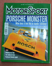 Motor Sport July 2003 Porsche 917, de Cesaris, Hesketh 308E, Alfa 158/159