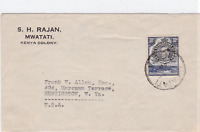 kenya colony 1946 stamps cover ref r16126