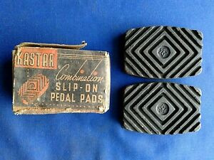 Kastar Slip-On Pedal Pads # 82 Set of 2 Buick Oldmobile Pontiac Nash 1929-1942