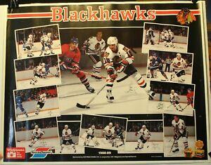 "1988-89 Chicago Blackhawks Kodak 18 x 22 1/2"" Player Poster NHL Savard Murray"