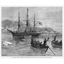 Eira Arctic Expedition; Rescue of Crew in Matochkin Strait - Antique Print 1882