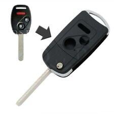 2 Buttons Flip Remote Key Fob Case Shell For Honda Civic CR-V Accord Odyssey LX