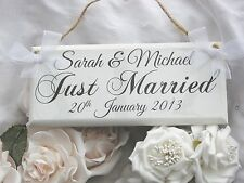 Personalised Wedding 'Just Married' Plaque/Sign Engagement Gift Keepsake