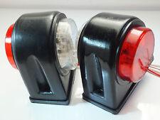 Super-Bright LED Sealed D-Shaped Side-Marker Clearance Truck Trailer Light (24v)