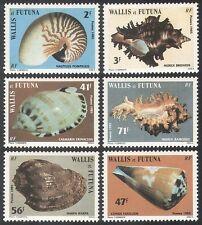 Wallis and Futuna 1985 Conchiglie/Marino/NATURA/molluschi/Lumache Set 6 V (n40553)