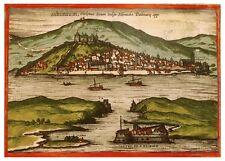 Šibenik Dalmatia Krka River Croatia bird's-eye view map Braun Hogenberg ca.1575