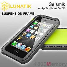 GENUINE LunaTik Seismik Suspension Frame Impact Case for Apple iPhone 5 SE Green