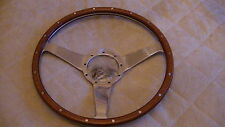 "MOTO-LITA 15"" MK3  DISHED PLAIN WOOD RIM STEERING WHEEL FORD MUSTANG / BMW / VW"