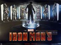 Iron Man 3 Original Zweiseitig Kinofilm Plakat 76.2x102cm Quad Robert Downey Jr