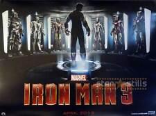 IRON MAN 3 Doble Cara PELÍCULA PÓSTER 76.2x101.6cm Quad Robert Downey Jr