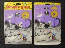 1993 NIGHTMARE BEFORE CHRISTMAS Disney Star Stickers MOC LOT of 2