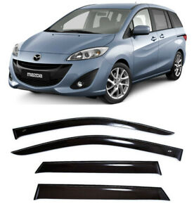 For Mazda 5 (CW) II 2010-2015 Window Visors Side Sun Rain Guard Vent Deflectors