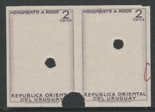 Uruguay 4784 - 1948 RODO MONUMENT  IMPERF PROOF PAIR of FRAME ONLY