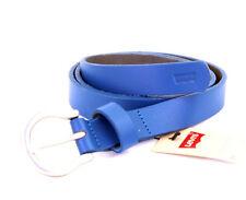 Levi´s Cintura in pelle unisex 221818 Blue taglia 85 cm (Breite 2 cm)