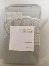 Hudson Park Collection Euro Pillow Sham Modern Scroll $130.00 Gray White Thread
