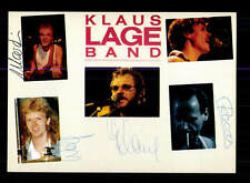 Klaus Lange Band  Autogrammkarte Original Signiert ## BC 95898
