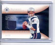TOM BRADY 2005 ULTIMATE COLLECTION GAME USED JERSEY CARD #10/25 PATRIOTS