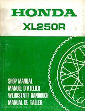 Honda XL250R 1982 Shop Manual