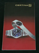 Original Certina DS PH1000M Chronolympic Diamaster Katalog Brochure 1975/76