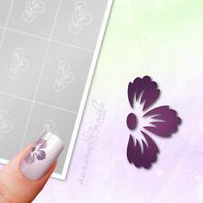 Schablonen für Airbrush und Nailart B131 NAILART Blumen Blüten Blüte Blätter 80x