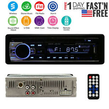 Car Stereo Audio Wireless Radio Player In-Dash FM Aux Input Receiver SD/USB/MP3