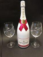 Moet Chandon Ice Imperial Rose Champagner 1,5l Magnum 12% Vol + 2 Glas Gläser