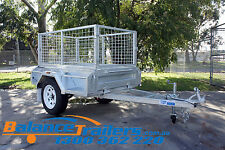 5x3 HOTDIP GALVANISED FULLY WELDED TIPPER BOX TRAILER WITH 600mm REMOVEABLE CAGE