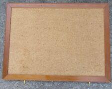 "Vintage Wood Frame Cork Wall Art Message Bulletin Notice Board 18 x 24"""