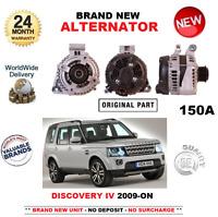 FOR LAND ROVER DISCOVERY IV 3.0 TD SDV6 4x4 2009-ON NEW ALTERNATOR 150 AMP