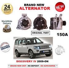 PARA LAND ROVER DISCOVERY IV 3.0 TD SDV6 4x4 2009-> ALTERNADOR NUEVO 150 AMP