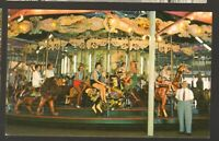 Unused Postcard Beautiful Merry Go Round Carousel Ocean City Maryland MD