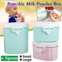 Portable Baby Kids Food Containers Storage Feeding Box Milk Powder Dispenser