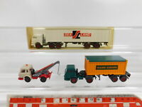 CG322-0,5# 3x Wiking H0/1:87 US-LKW: 526 Harvester+527 Sealand etc, NEUW+1x OVP