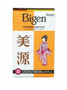 3PCS X ACHoyu Bigen Powder Hair Dye Chestnut Brown 6g Free Shipping World Wild