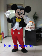 Best Mickey Mouse Mascot Costume Carnival Fancy Dress Suit Adult Free Shipping