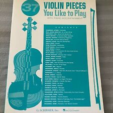 Violin Pieces You like to Play with Piano Accompaniment Sheet Music