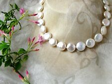 Pearl Necklace - NINA - Freshwater Pearls  -  with silver clasp
