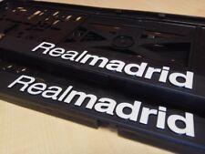 Real Madrid 2xECHTE 3D-Effekt Kennzeichenhalter, Nummernschildhalter weiss