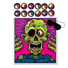 Pin The Eyeball On The Zombie Game