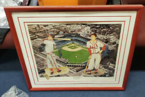 Stan The Man Musial, Lithograph #412/500 Lewis Watkins - Autographed- Framed-COA