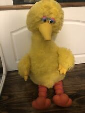 "1986 Talking Cassette Big Bird Vintage Sesame Street 17"" sitting FOR PARTS ONLY"