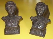Ancienne paire de chenets buste Napoléon 3 Empire / Cheminée